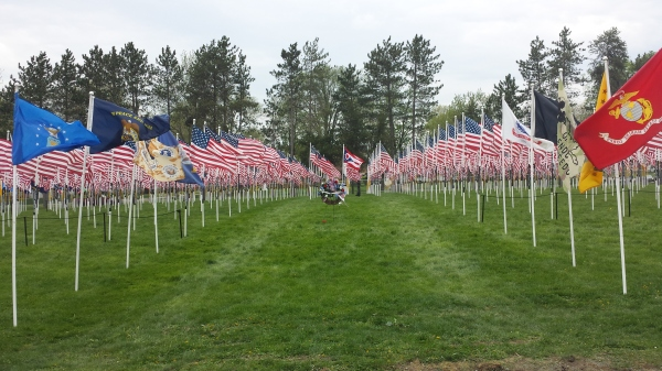 Flags of Honor in Parma, OH in May 2014.